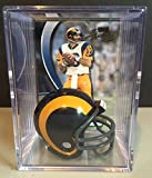 St. Louis Rams Throwback NFL Helmet Shadowbox w/ Kurt Warner card