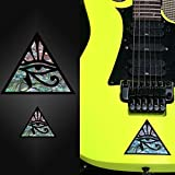 Pyramid Eye (large and small) Set In Abalone Theme Inlay Sticker Decal Vai Ibanez Jem Guitar Bass