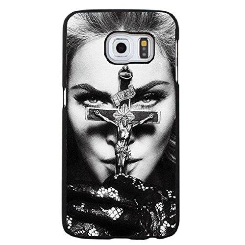 Case Shell Unique Cross Design Super Singer Madonna Ciccone Phone Case Cover for Samsung Galaxy S6 Edge Plus Madonna New Stylish