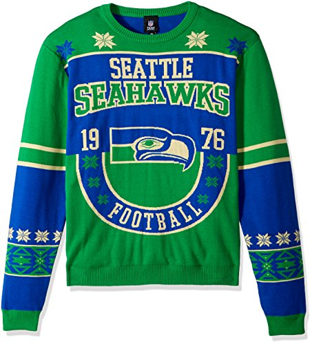 Seattle Seahawks Cotton Retro Sweater Large -