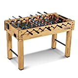 MD Sports SOC048_047M Foosball Table, Light Wood, 48'