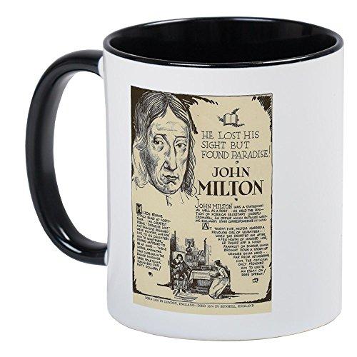 CafePress - John Milton Mini Biography Mugs - Unique Coffee Mug, Coffee Cup