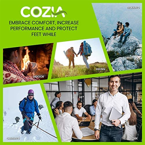 COZIA Wool Socks 80% Merino Men's and Women's Warm Thermal Boot Socks 3 Pairs