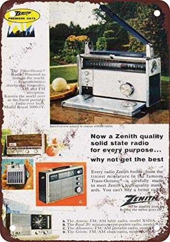 1966 Zenith Solid State Radios Vintage Look Reproduction for sale  Delivered anywhere in Canada