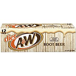 Diet A&W Root Beer, 12 fl oz cans, 12 pack