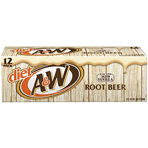 Diet A&W Root Beer, 12 fl oz cans, 12 count (Diet Mug)