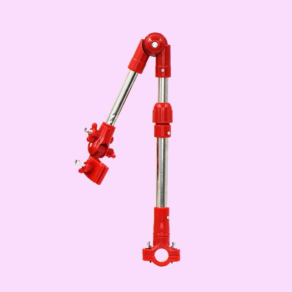 Naisicatar Einstellbare Fahrrad Regenschirm Halterung Halter Folding Teleskop Regenschirm Swivel-Anschluss Lenker Rahmenstandplatz f/ür Fahrrad-Kinderwagen Baby-Stuhl 1pc