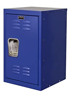 "Hallowell HKL151524-1GS Kid Mini Locker, 15"" Width x 15"" Depth x 24"" Height, Single Tier, 1-Wide, Knock-Down, 717 Grand Slam"