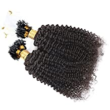 Hesperis Kinky Curly Micro Loop Human Hair Extension 1g/Strands 100g Per Bundle Loose Wave Micro Loop Ring Hair Extension-24inch