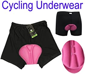79c83a64b2 PyLios(TM Women Outdoor Sports Bicycle Bike Cycling Underwear Gel 3D Padded  Short Pants