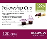 Fellowship cup,Prefilled communion cups juice/wafer-100 cups (net wt.1.62 lb) by BROADMAN CHURCH SUPPLIES