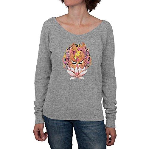 Grateful Dead - Womens Grateful Dead - Phoenix Rising Syf Grey Off-shoulder Juniors (Grateful Dead Athletic T-shirt)