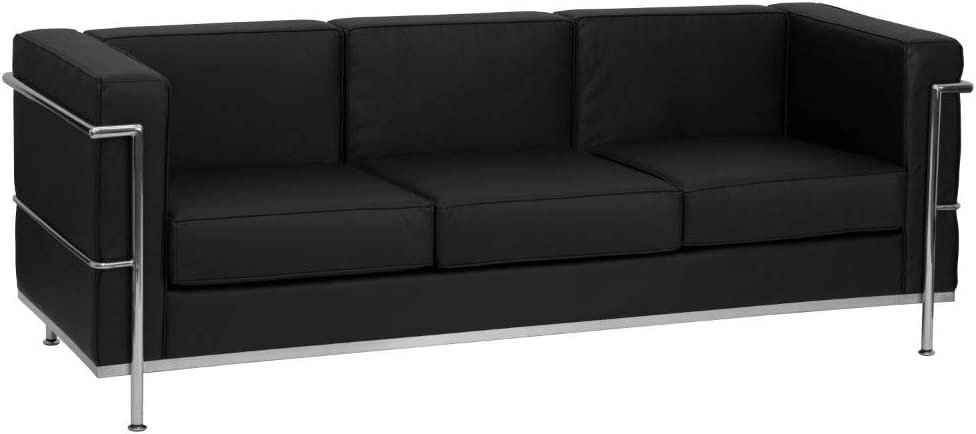 Flash Furniture Black Leather Sofa