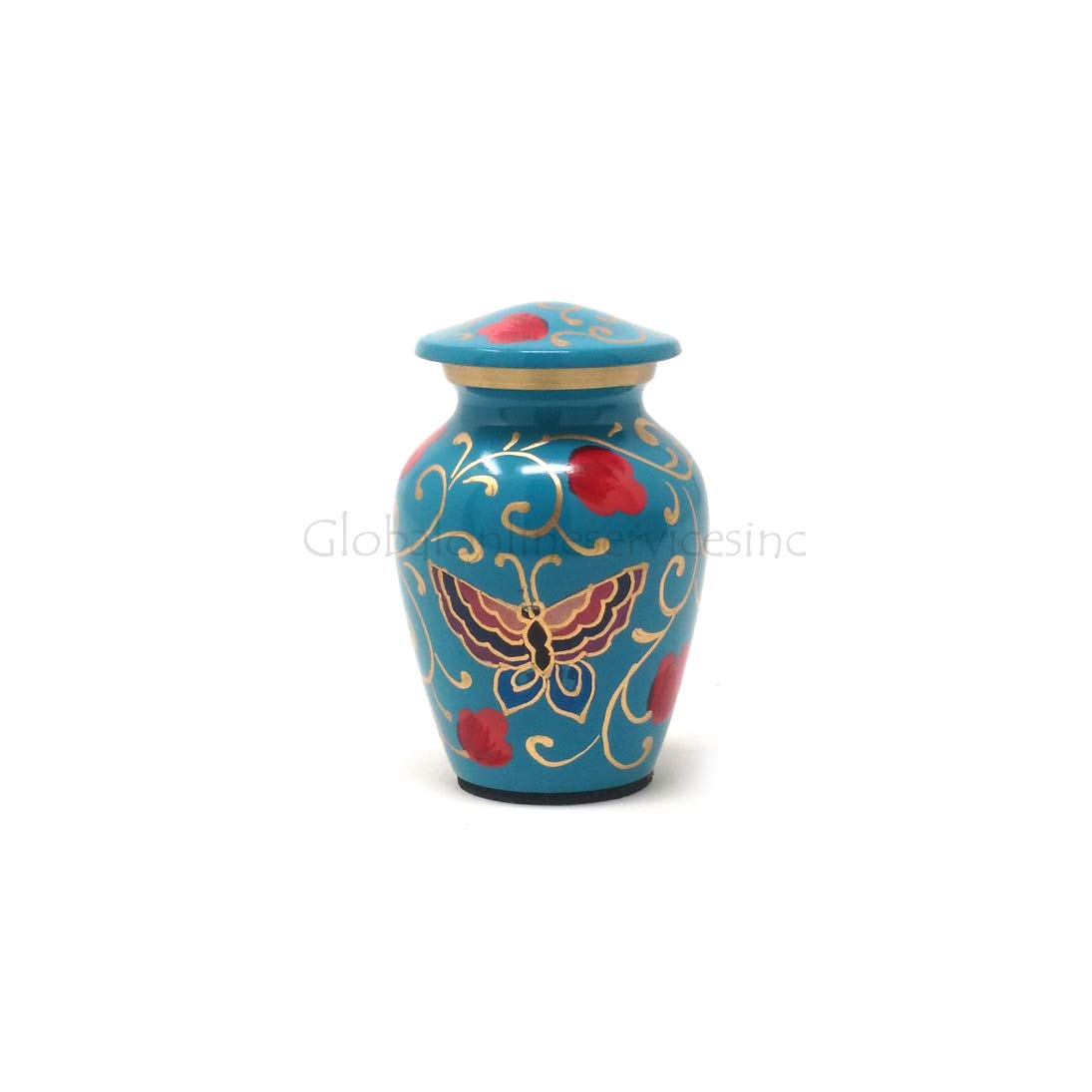 Cremation urna Floral Mariposas Recuerdo para Cenizas