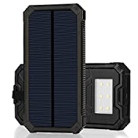 Solar Charger, Zonhood 15000mAh Portable...