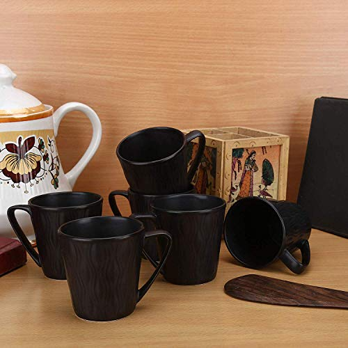 Clay Craft Bone China Coffee Mug – 6 Pieces, Golden, 150 ml Price & Reviews