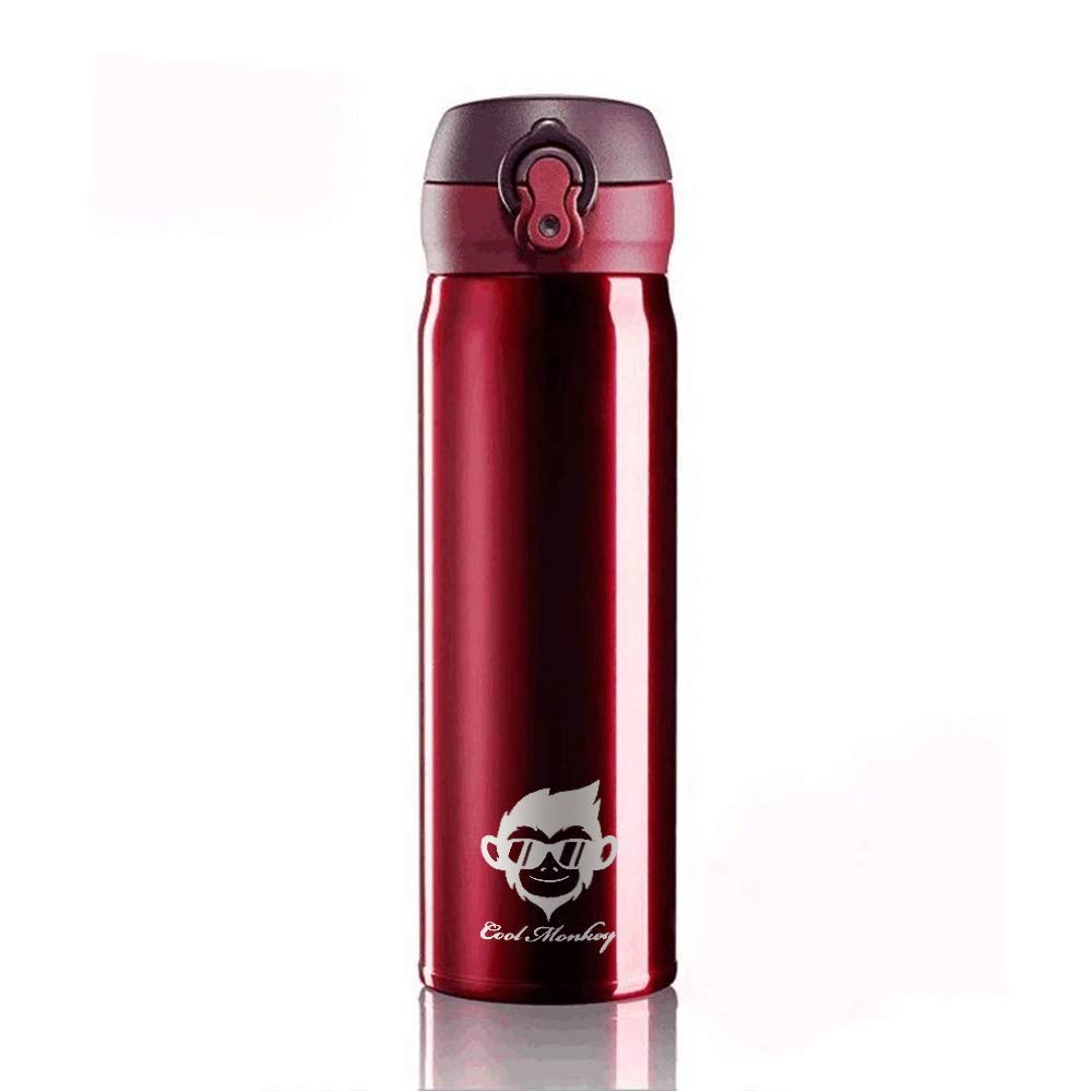 Stainless Steel Thermos Water Bottle 500ml red