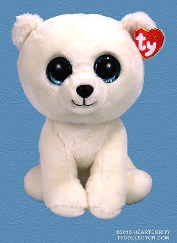 Ty Classic Beanies ARCTIC the White Polar Bear 25 cm Medium Buddy Size 9''