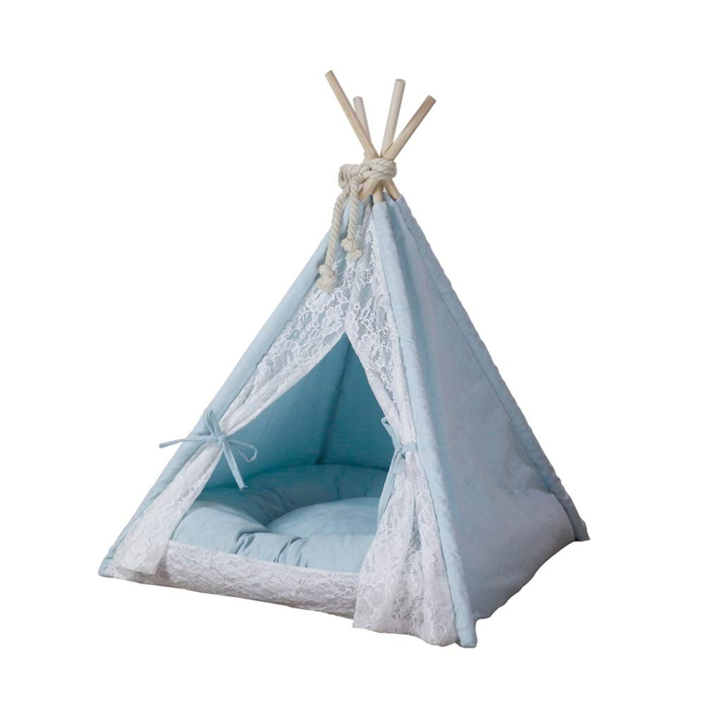 2 Gworyan Dog Teepee, Cat Nest Tent Doghouse Sofa Bed Semiclosed Yurt Indoor Use Household For Small Medium Dog Teddy Pet Bed (color    2)