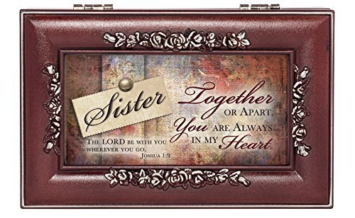 Sister in My Heart Rosewood Finish Jewelry Music Box - Plays You are My ()