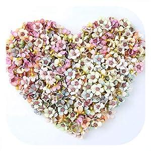 50/100Pcs 2cm Mini Silk Artificial Flower Daisy Flower Head for Wedding Home Decoration DIY Craft Wreath Gift Scrapbooking,Multi,50pcs 49