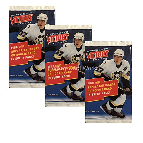 2007-08 Upper Deck Victory Hockey Hobby Pack x3 Lot. Look for Toews, Kane, Lucic, (Victory Hockey Hobby Box)