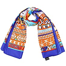 lovescarf Women 100% Silk Scarves Square Scarf 39.4*39.4 Inches (Blue 3)