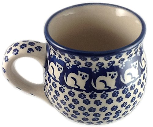 (Polish Pottery LARGE 16 Ounce Bubble Mug KOT6 Jack's Cat)