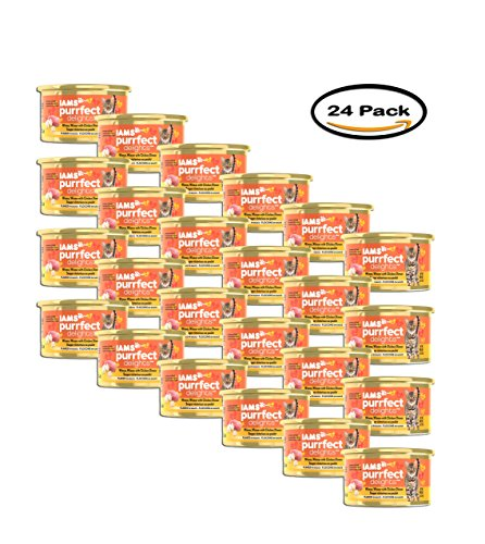PACK OF 24 - IAMS PURRFECT DELIGHTS Flaked in Sauce Winner W