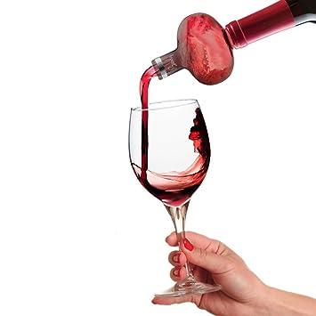 Aireador de vino – Deluxe decantador botella vertedor caño dispensador Set – excelente para whisky vino