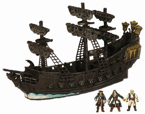 Zizzle Pirate Fleet Black Pearl w/ Jack Sparrow, Will Turner & Gibbs Micro Figures