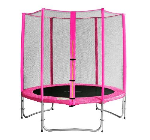 SixBros. SixJump 1,85 M Gartentrampolin Pink Trampolin - Sicherheitsnetz - Lange Netzstangen - CST185/L1568