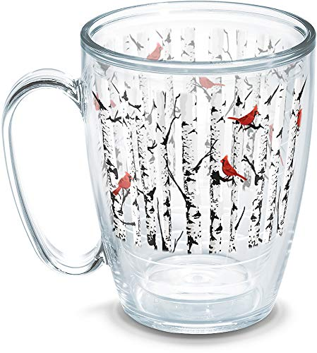 (Tervis 1270138 Aspen Trees with Cardinals Insulated Tumbler with Wrap, 16oz Mug, Clear)