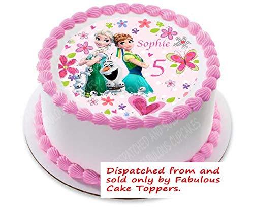 Frozen Fever Edible Cake Image Cake Topper Decoration