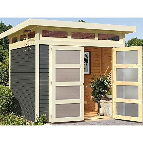 Karibu Gartenhaus Sommersdorf 2 terragrau 19 mm