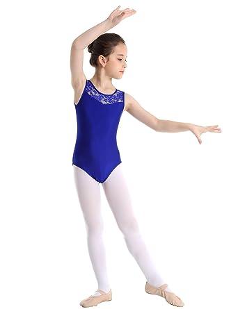 MSemis Maillot Gimnasia Rítmica para Niñas Maillot Danza Ballet ...