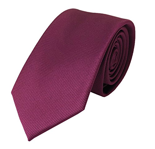 Men Classic Heavy WIne Red Colored Silk Tie Events Formal Necktie for Ideal Gift