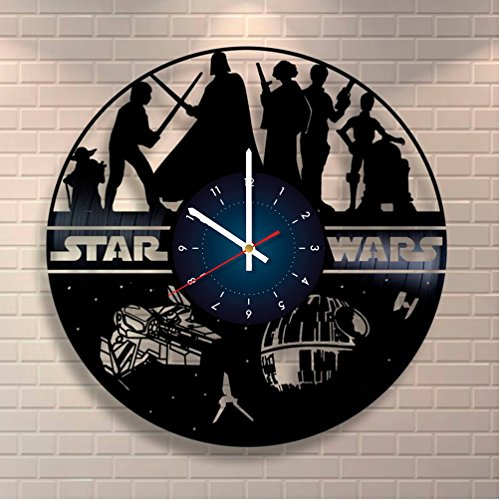 KYLO REN Star Wars Vinyl Record Clock Home Design Room Art Decor Handmade Gift For Him and Her