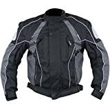 Xelement Armored Mens Gray/Black Textile Jacket - 2X-Large