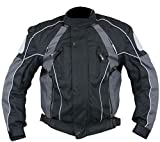 Xelement Armored Mens Gray/Black Textile Jacket - Large