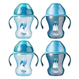 Tommee Tippee Infant Trainer Transition Sippee Cup, 7+ Months, Boy – 8 Ounces, 4 Count