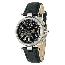 Constantin Durmont CD-MIRL-AT-LT-STST-BK - Women's Wristwatch , Leather, color: Black