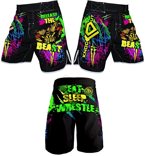 - KO Sports Gear Release The Beast Fight Shorts (Youth Large)