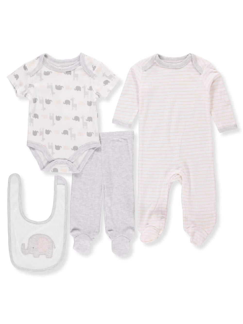 Ivory Pants Bib 3-6 Months Ren/é Rof/é 4 Piece Set Sleep /& Play Bodysuit