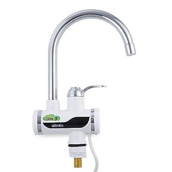 Grifo eléctrico del calentador de agua Cocina Golpecito heated instantáneo LED pantalla digital , small bend: Amazon.es: Hogar