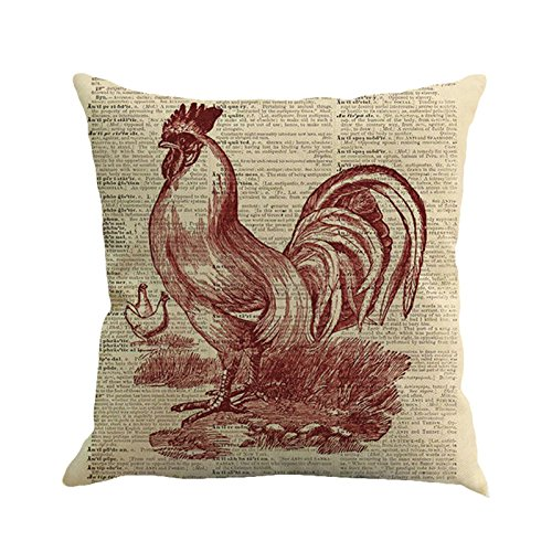 HYIRI Factory Sale Easter Sunday Throw Pillow Case Rooster Pattern Sweet Love Square Cushion