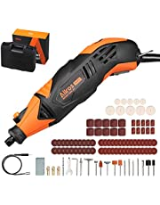 ALLROS 170W Rotary Tool Kit with Flex Shaft, Variable Speed Control 8000-35000 RPM, 100 Accessories Kit and Storage Case, Ideal Tool for DIY Creations, Cutting, Sanding, Drilling, Polishing