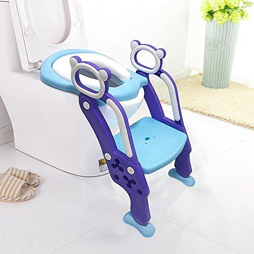 Laduo - Orinal con escalera para inodoro para que niños y bebés aprendan a usarlo - Antideslizante y ajustable: Amazon.es: Bebé