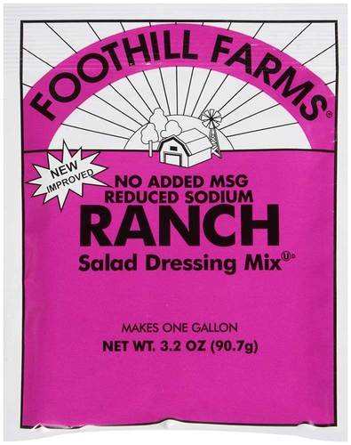 Foothill Farms Ranch Dressing (no MSG) Mix, 3.2-Ounce Units (Pack of 18) ()