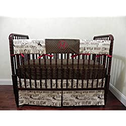 Nursery Bedding, Bumperless Baby Crib Bedding Set Mathis, Baby Boy Bedding, Crib Rail Cover, Cowboy Baby Bedding, Western Nursery Bedding - Choose Your Pieces